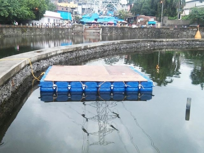 Floating Dock for Ganpati Visarjan